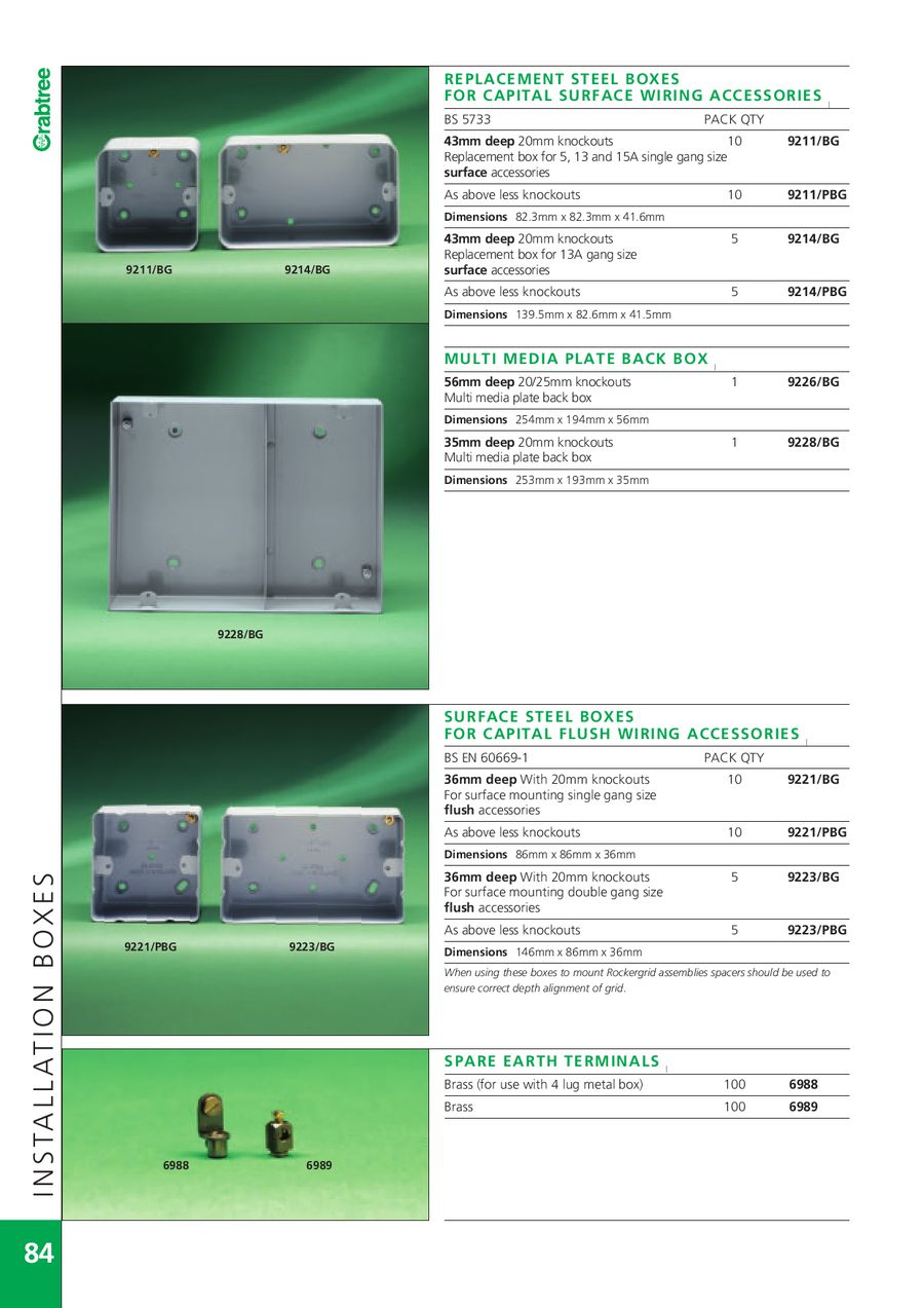 Page 86 Of 2007 Crabtree Catalogue Containing Industrial Products Wiring Accessories P 276