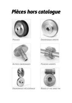 Gears and sprockets (french)