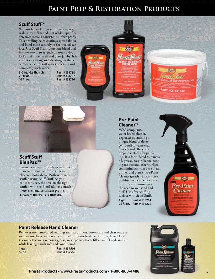 Auto Paint Refinishing and Car Detailing by Presta Products