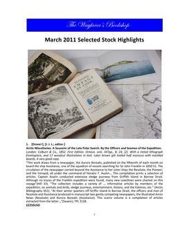 March 2011 Selected Stock Highlights