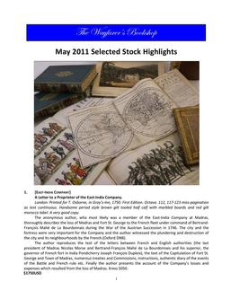May 2011 Selected Stock Highlights
