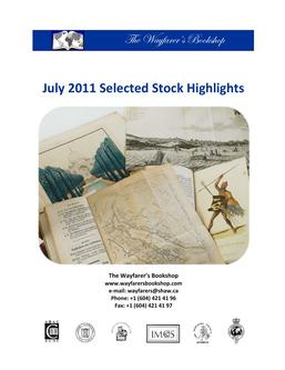 July 2011 Selected Stock Highlights