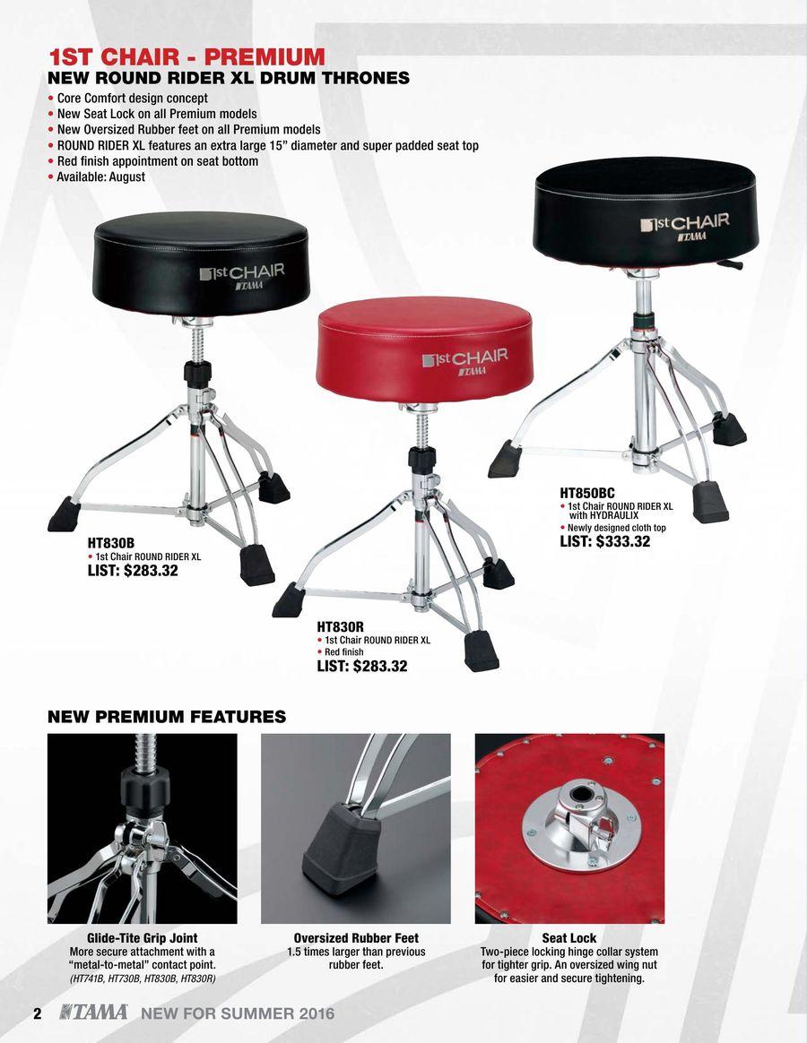pack 2 pcs Tama RB8P Reversible Cymbal Seat