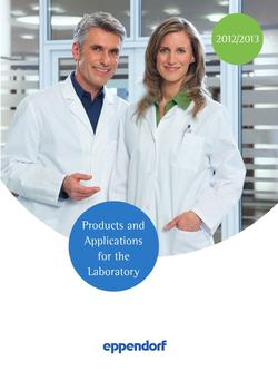 Products and Applications for the Laboratory 2012/2013