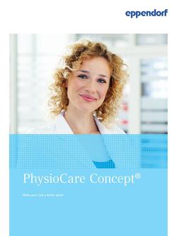 Eppendorf PhysioCare Concept 2017