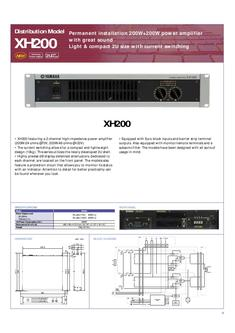 XH200 Power Amplifiers