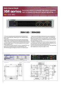 XM Series Power Amplifiers