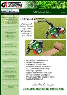 Turf Cutter TMC48 and TC4GCO Chop-off attachment 2012