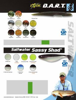 D.A.R.T., Saltwater Sassy Shad® 2015