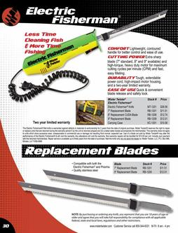 Electric Fisherman®, Replacement Blades 2017