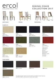 Dining Chair Collection Fabric Leaflet 2017