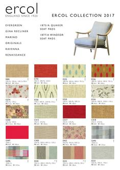 Ercol Collection Fabrics 2017/2018