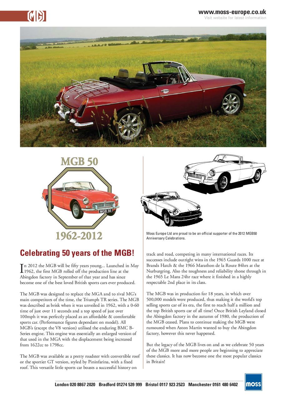 MGB Performance 1 2012 by Moss Europe