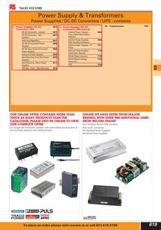 Power Supply & Transformers 2012