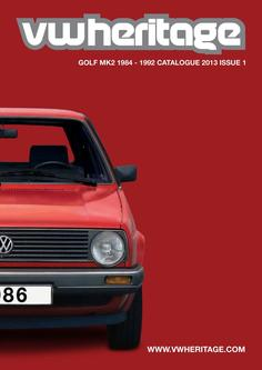 Golf - MK2 Parts Catalogue Part 1 2013