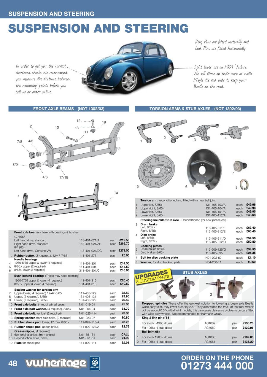 Beetle Parts Catalogue Part 2 2015 by VW Heritage