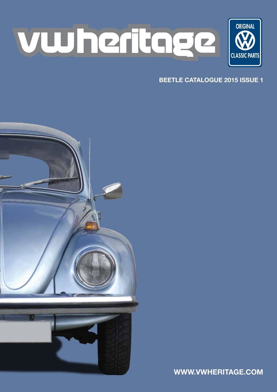 Beetle Parts Catalogue Part 1 2015 by VW Heritage