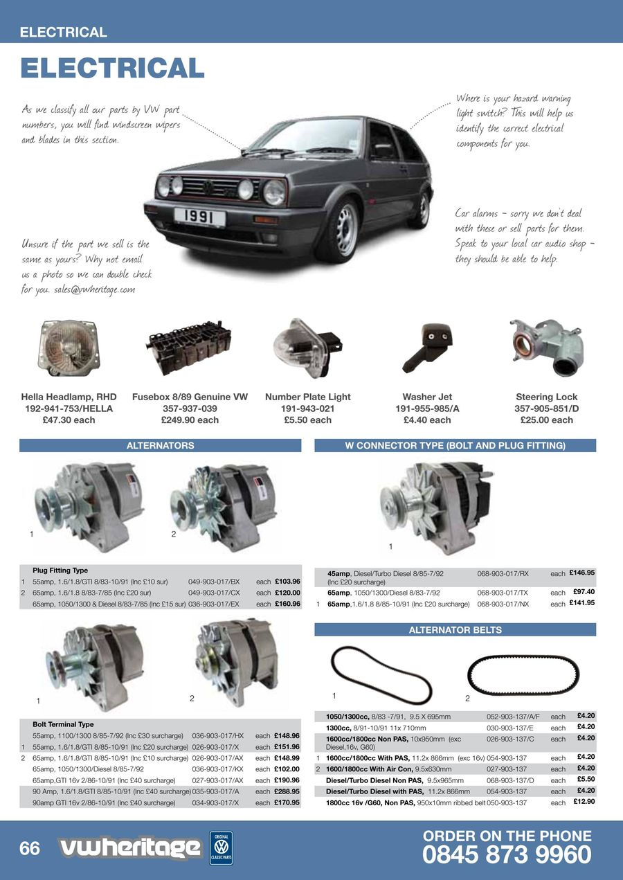 Page 26 of Golf - MK2 Parts Catalogue Part 2 2013
