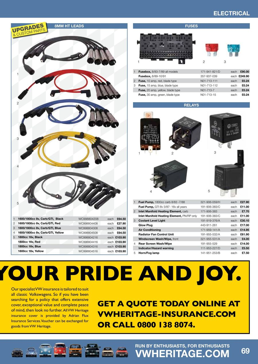 Page 27 Of Golf Mk2 Parts Catalogue Part 2 2013 Fuse Box P 42