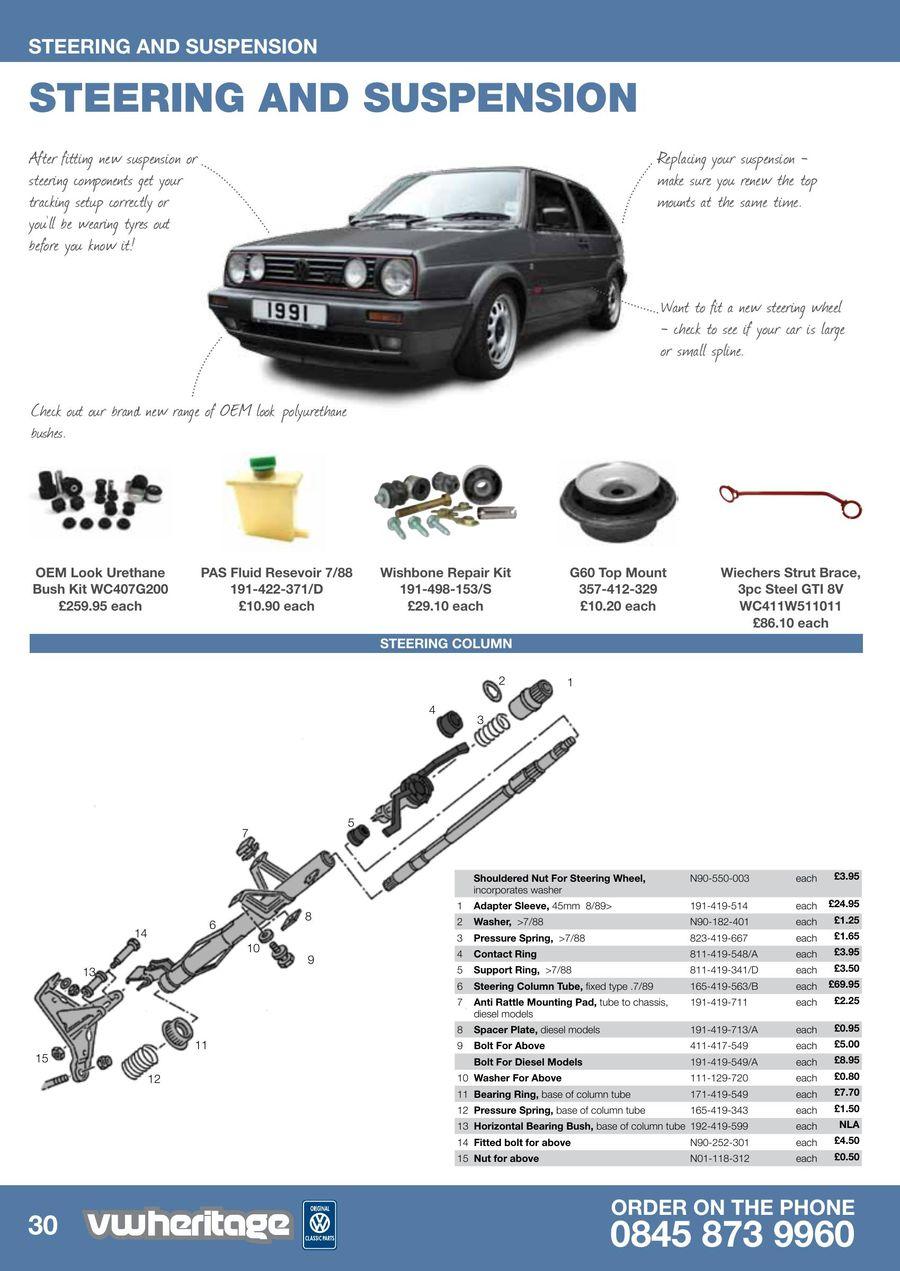 Page 32 of Golf - MK2 Parts Catalogue Part 1 2013