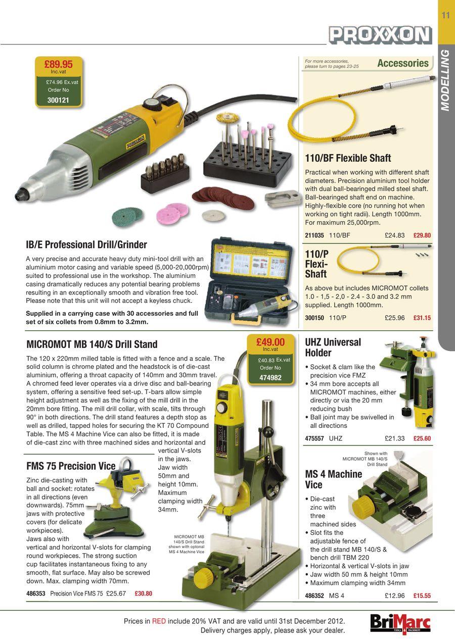 Page 13 of Proxxon Catalogue 2012