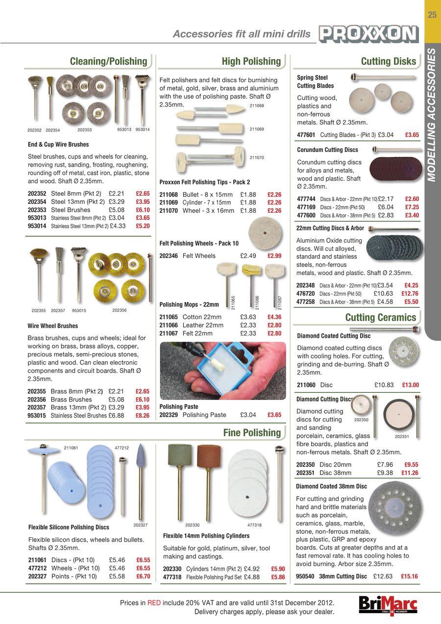 Proxxon Flexible 5mm Polishing Points Pack 5-202327