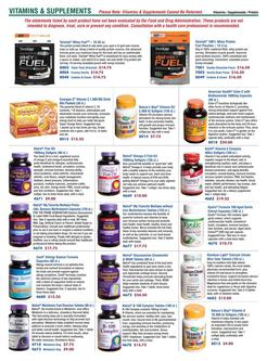 Vitamins / Supplements 2015
