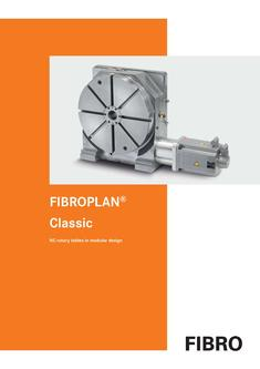 FIBROPLAN Classic - NC rotary tables in modular design 2012