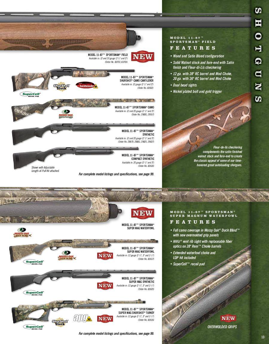 2010 Shotguns by Remington