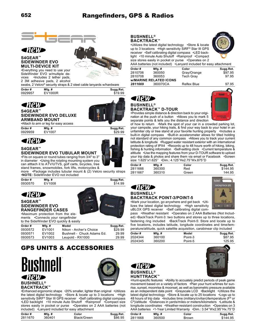GPS Units, Rangefinders & Radios 2012 by Ellett Brothers