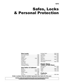Safes, Locks & Personal Protection 2012