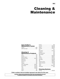 Cleaning & Maintenance 2012