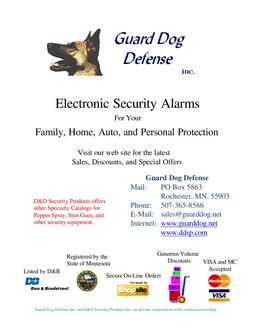 Electronic Security Alarms