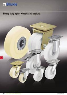 Heavy duty nylon wheels and castors 2012