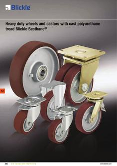 Heavy duty wheels Blickle Besthane® 2012