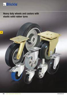 Heavy-duty wheels and castors with elastic solid rubber tyres 2012