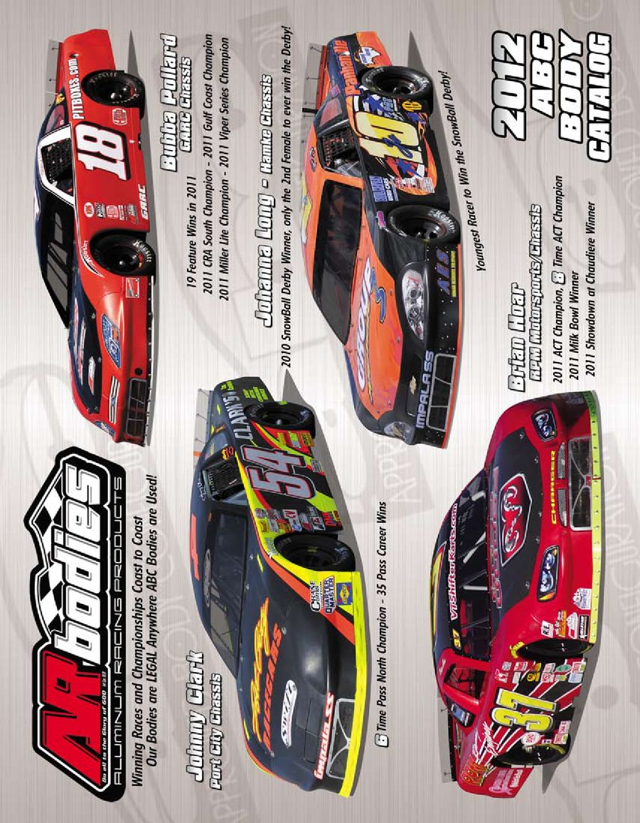 ABC Bodies, Components & Accessories 2012 by AR Bodies