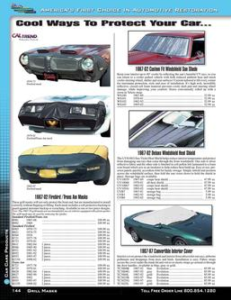 Firebird / Trans Am Car Care Products 2015