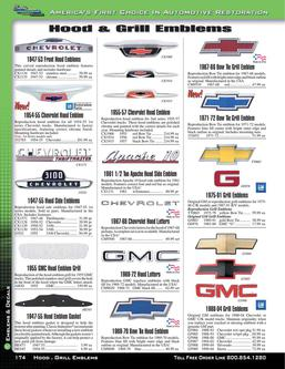 Chevy & GMC Truck Emblems & Decals 2015