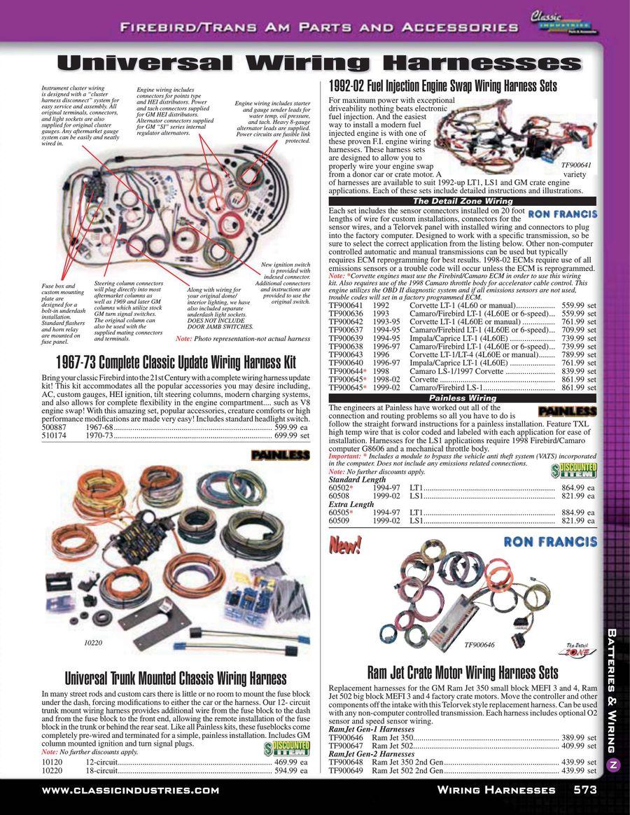 Page 14 Of Firebird Trans Am Batteries Wiring 2015 Impala Engine Harness P 20
