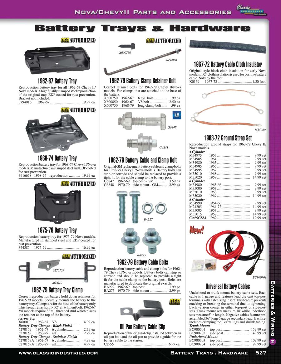 Page 11 Of Nova Chevy Ii Batteries Wiring 2015 Battery By Classic Industries