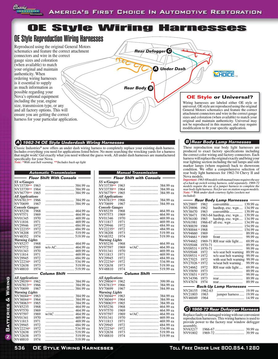 Page 11 of Nova / Chevy II Batteries & Wiring 2015 Universal Wiring Harness Dash on 1987 chevy dash harness, 1967 chevrolet van dash harness, dash gauges, dash radio, 1971 chevelle dash harness, chevy suburban wire harness, 99 firebird dash harness,