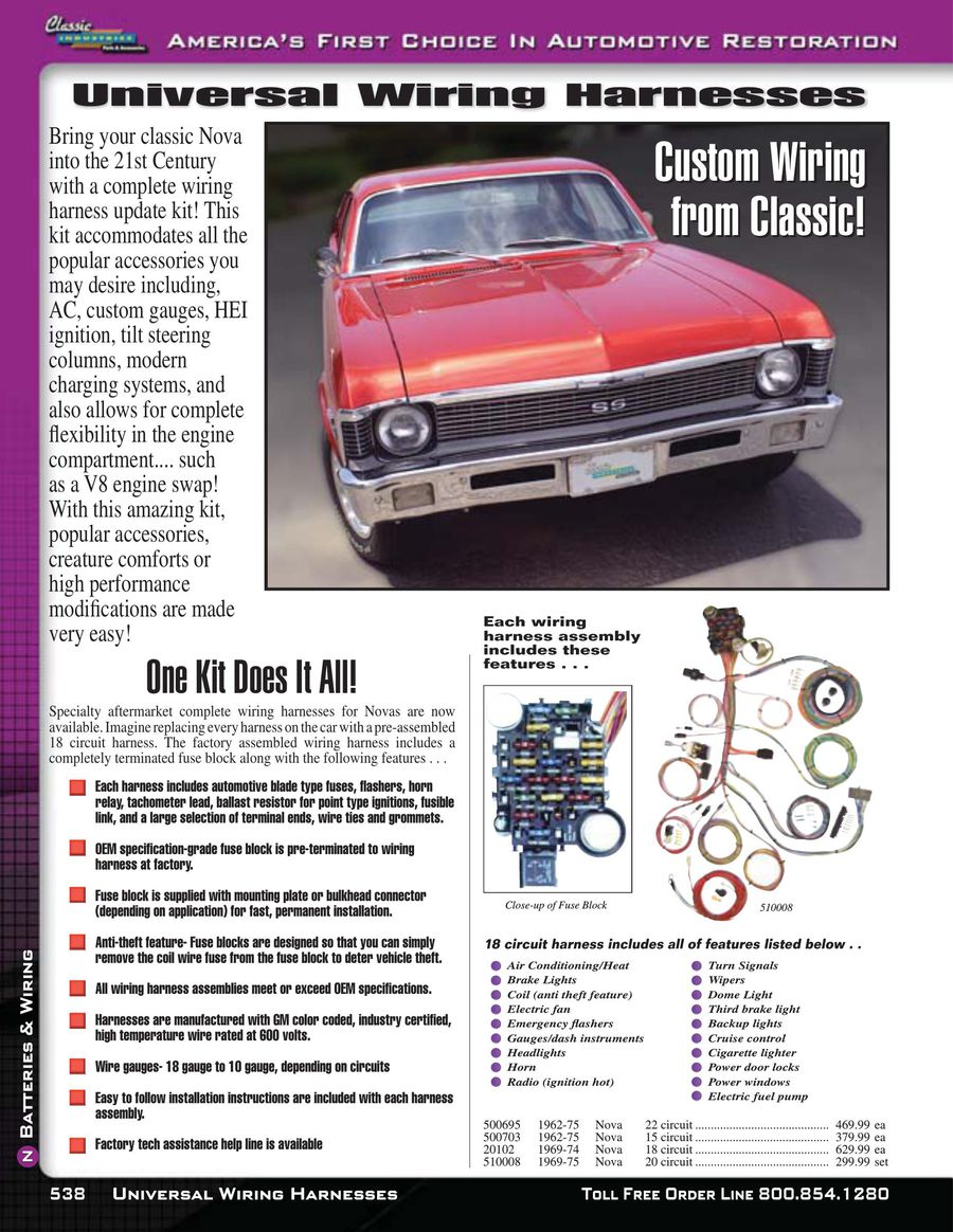 Page 11 of Nova / Chevy II Batteries & Wiring 2015 Wiring Harness For Nova on