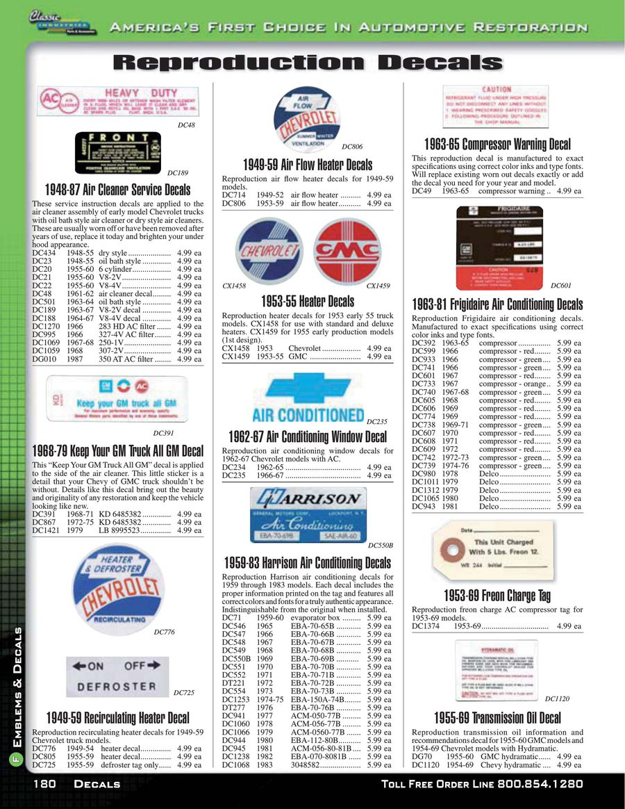 Page 7 Of Chevy Gmc Truck Emblems Decals 2015 1949 Heater P 10