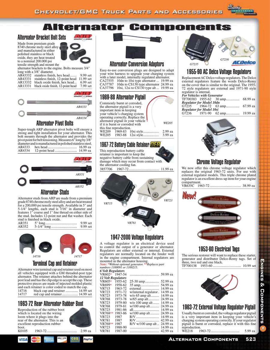 Page 527 Of Chevy Gmc Truck Parts And Accessories 2015 1958 Charging System Wiring P 654