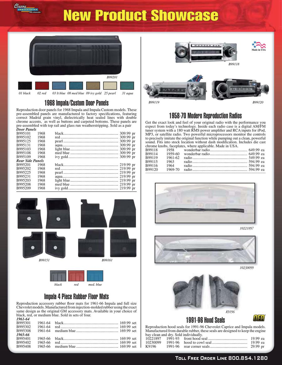 Impala / Fullsize Parts & Accessories 2015 by Classic Industries