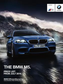 BMW M5 Saloon Price List July 2014