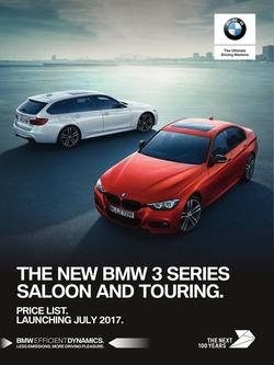 BMW 3 Series Saloon and Touring Price List September 2017