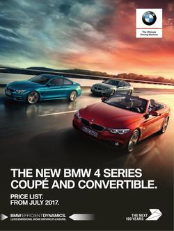 BMW 4 Series Coupe & Convertible Price List July 2017