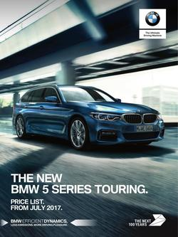 BMW 5 Series Touring Price List August 2017